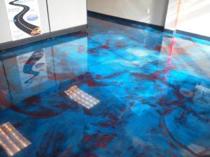 Auto shop epoxy flooring