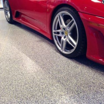 decorative quartz garage epoxy floor