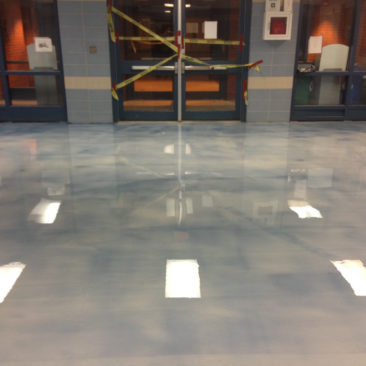 Epoxy floors for banks