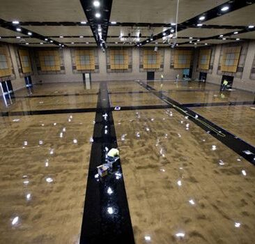Epoxy floor for gymnasium