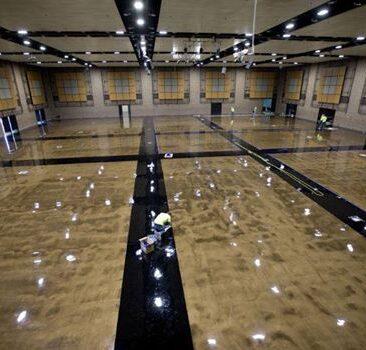 Epoxy floor for gymnasium