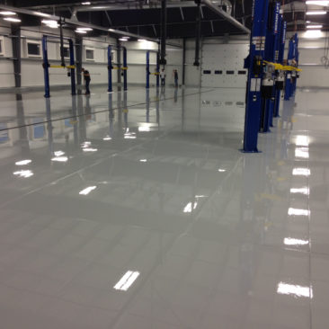 Shop epoxy flooring