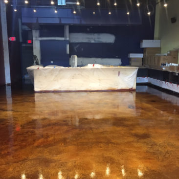 Retail epoxy flooring